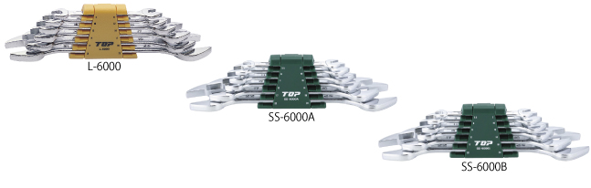 6 COMBINATION SPANNERS SET