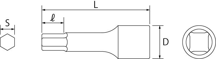 ヘキサゴンソケットの図面