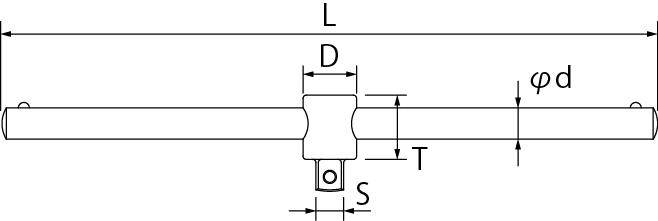 スライディングTハンドルの図面