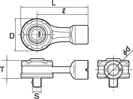 絶縁ラチェット形トルクヘッドの図面