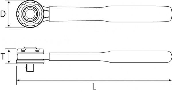 絶縁ラチェットハンドルの図面