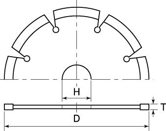 ダイヤモンドホイールRシリーズ セグメントタイプの図面