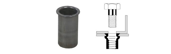 アルミニウムスモールフランジナット