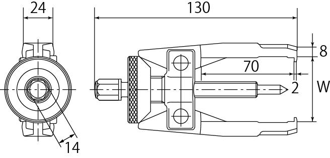 オルタネーターベアリングプーラーの図面