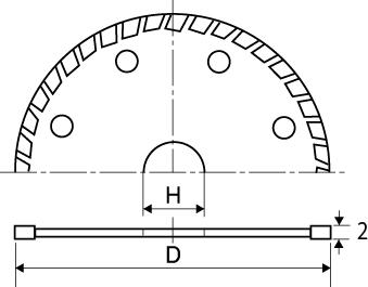 ダイヤモンドホイール 波形タイプの図面
