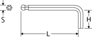 ボールポイントレンチ スタンダードタイプの図面