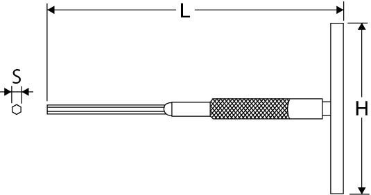 T型スピンレンチの図面