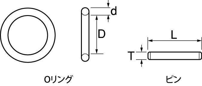 インパクト用Oリングピンセットの図面