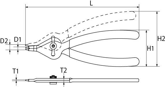 コンバーチブルプライヤの図面