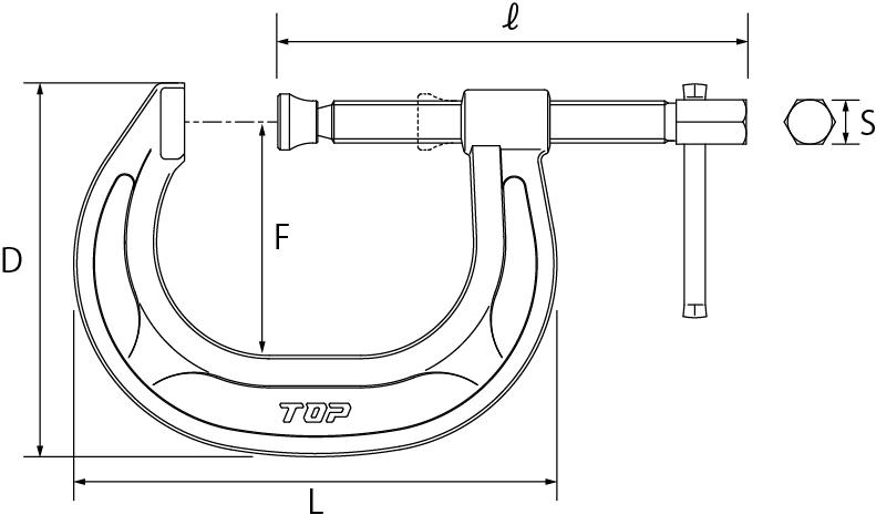 C型シャコ万力の図面