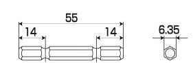 替軸ソケット用替シャンクの図面
