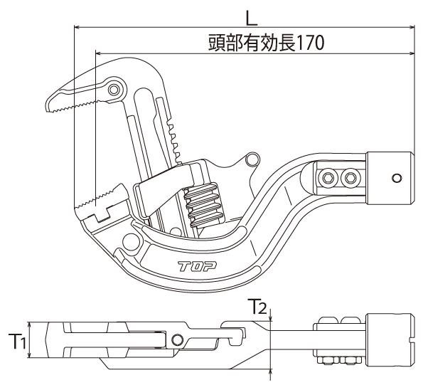 TPW形トルクヘッドの図面