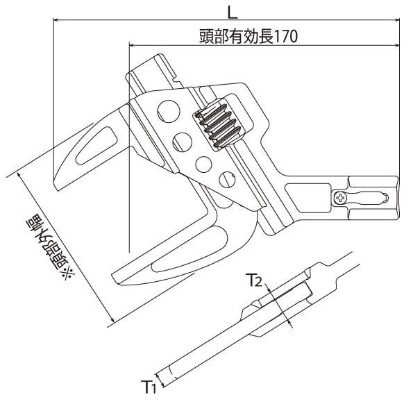 TMW形トルクヘッドの図面