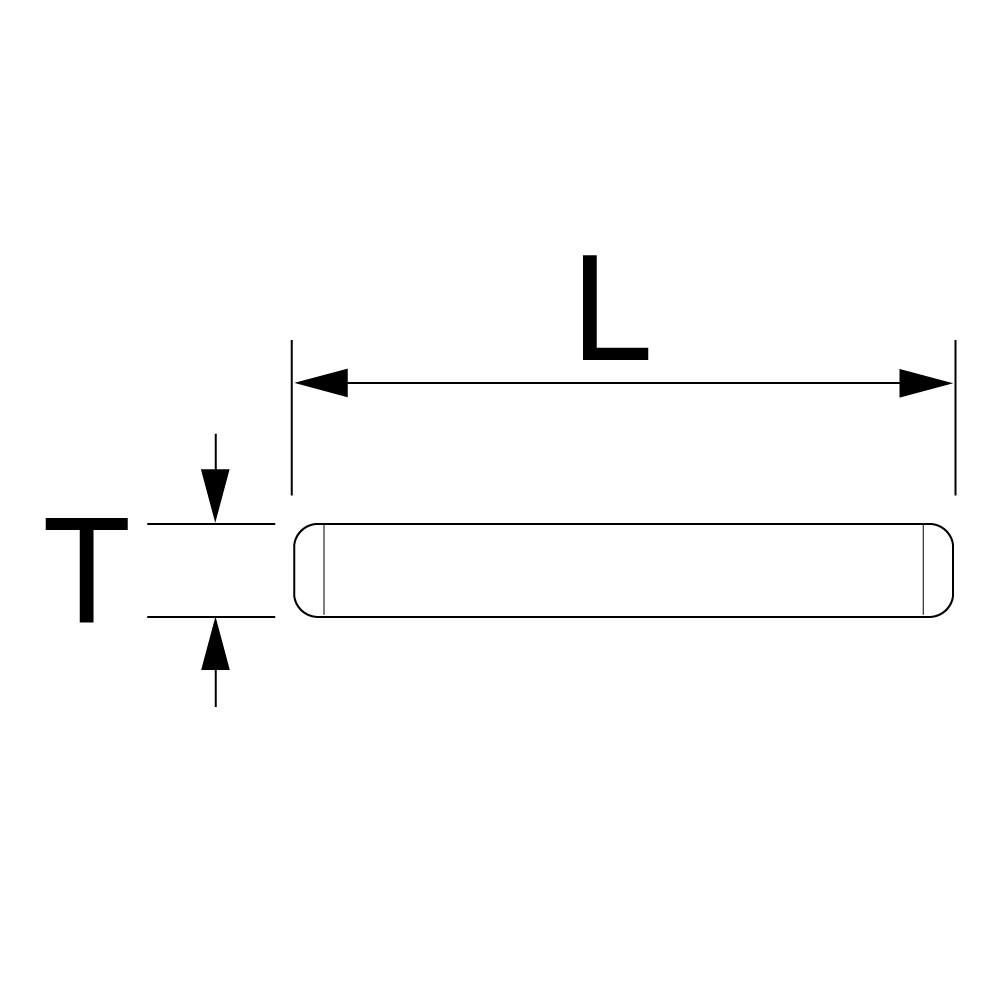 インパクト用ピン(5本入)の図面